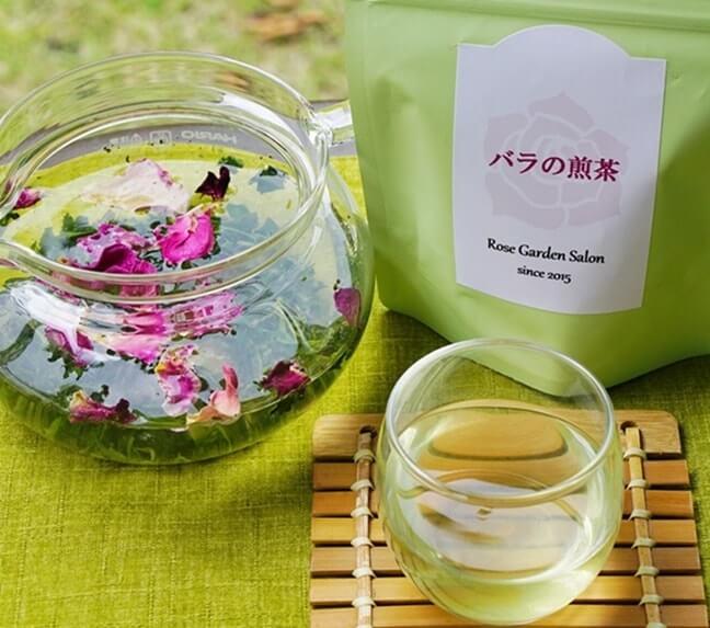 バラの緑茶