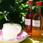 夏を涼しくうるおす バラのビネガーとシロップで作るソーダとスイーツ