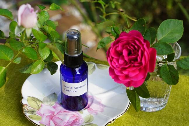 バラの香りのスプレー